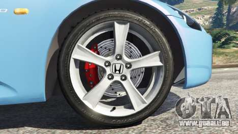 GTA 5 Honda S2000 arrière droit vue de côté