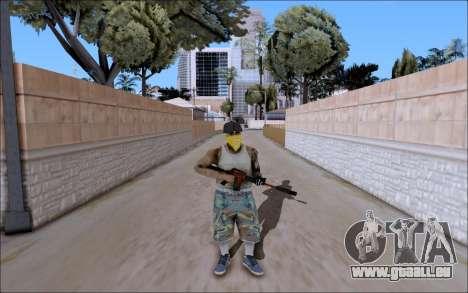 M4A1 Crimzone pour GTA San Andreas deuxième écran