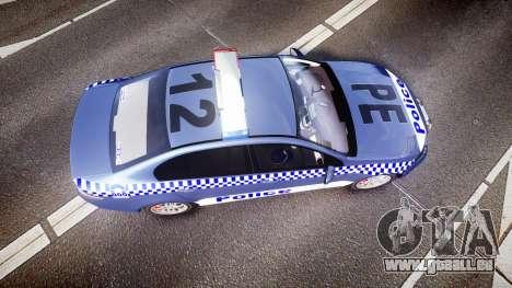 Ford Falcon FG XR6 Turbo NSW Police [ELS] pour GTA 4 est un droit