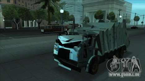 TDK Volvo Xpeditor Garbage Crash Version pour GTA San Andreas vue de dessous