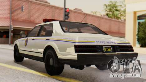 GTA 5 Albany Esperanto Police Roadcruiser IVF pour GTA San Andreas laissé vue