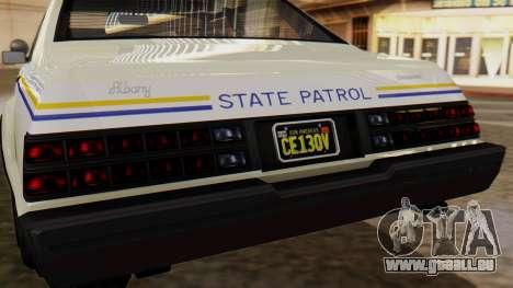 GTA 5 Albany Esperanto Police Roadcruiser pour GTA San Andreas vue intérieure
