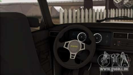 VAZ 2107 Avtosh Style für GTA San Andreas Innenansicht