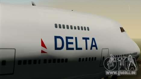 Boeing 747 Delta pour GTA San Andreas vue de droite