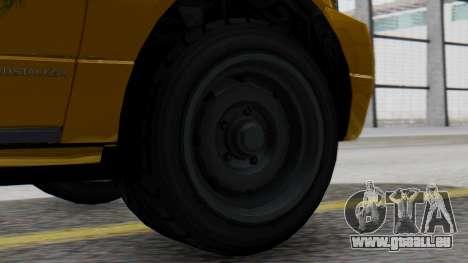 Vapid Landstalker Taxi SR 4 Style pour GTA San Andreas sur la vue arrière gauche