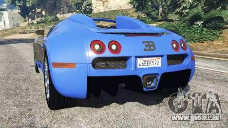 GTA 5 Bugatti Veyron Grand Sport hinten links Seitenansicht