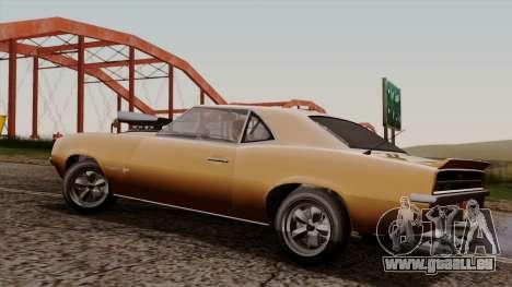 GTA 5 Declasse Vigero pour GTA San Andreas sur la vue arrière gauche