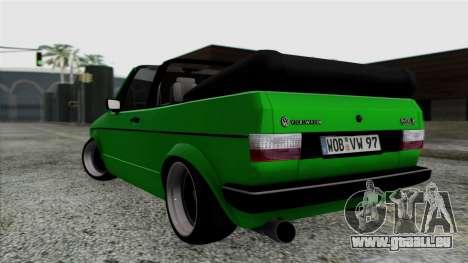 Volkswagen Golf Cabrio VR6 pour GTA San Andreas laissé vue