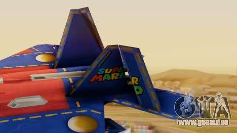 F-22 Raptor MARIO für GTA San Andreas zurück linke Ansicht
