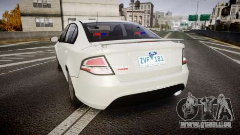 Ford Falcon FG XR6 Turbo Unmarked Police [ELS] für GTA 4 hinten links Ansicht