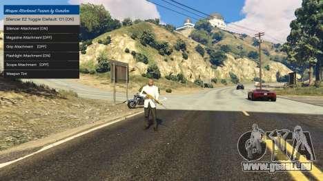 GTA 5 Tuning accessoires pour armes 1.1 deuxième capture d'écran