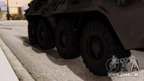 BTR-80 für GTA San Andreas zurück linke Ansicht