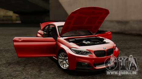 BMW M235i F22 Sport 2014 pour GTA San Andreas vue de dessus