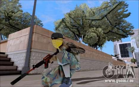 M4A1 Crimzone pour GTA San Andreas troisième écran