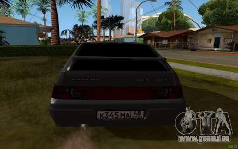 VAZ 2112 Lipetsk pour GTA San Andreas sur la vue arrière gauche