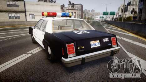 Ford LTD Crown Victoria 1987 LAPD [ELS] für GTA 4 hinten links Ansicht