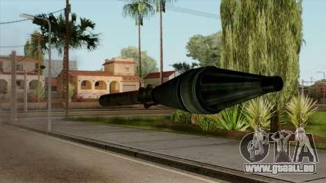 Original HD Missile pour GTA San Andreas troisième écran