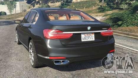 GTA 5 BMW 750Li 2016 hinten links Seitenansicht