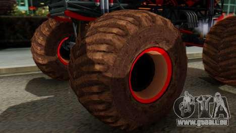 The Seventy Monster pour GTA San Andreas sur la vue arrière gauche