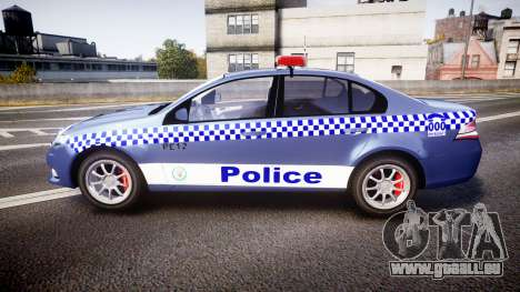 Ford Falcon FG XR6 Turbo NSW Police [ELS] für GTA 4 linke Ansicht