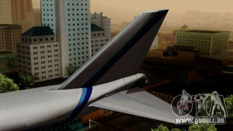 Boeing 747 Eastern pour GTA San Andreas sur la vue arrière gauche
