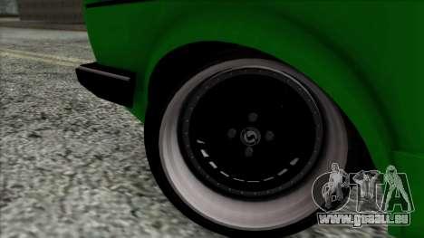 Volkswagen Golf Cabrio VR6 für GTA San Andreas zurück linke Ansicht