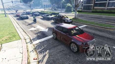 GTA 5 Réaliste de remplissage dans les rues et les rou deuxième capture d'écran