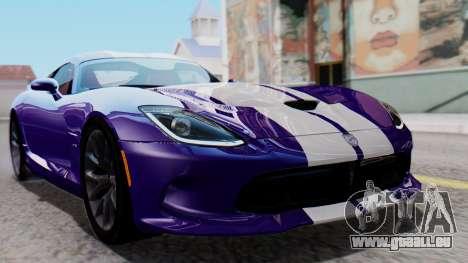 Dodge Viper SRT GTS 2013 HQLM (HQ PJ) pour GTA San Andreas