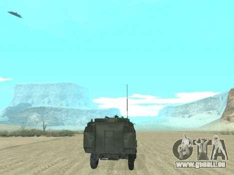 L'APC 40 pour GTA San Andreas vue de dessous