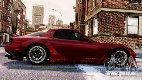 Mazda RX-7 RocketBunny EPM pour GTA 4 vue de dessus