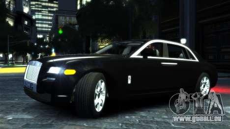 Rolls-Royce Ghost 2013 v1.0 pour GTA 4 est une gauche