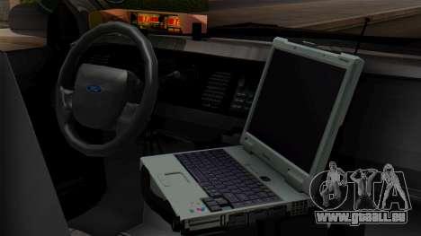 Police LV 2013 für GTA San Andreas Rückansicht