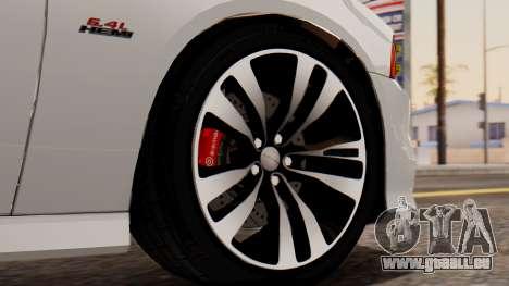 Dodge Charger SRT8 2012 LD für GTA San Andreas zurück linke Ansicht