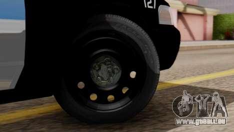 Police LV 2013 pour GTA San Andreas sur la vue arrière gauche