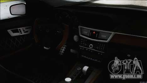 Mercedes-Benz E63 Brabus BUFG Edition pour GTA San Andreas vue de dessus