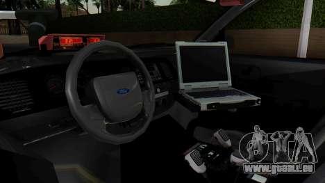 FBI Rancher 2013 pour GTA San Andreas vue de droite