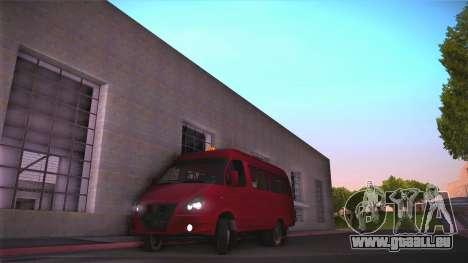 Gaz 32213 pour GTA San Andreas laissé vue