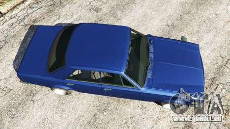 GTA 5 Nissan Skyline 2000 GT-R 1970 v0.2 [Beta] vue arrière