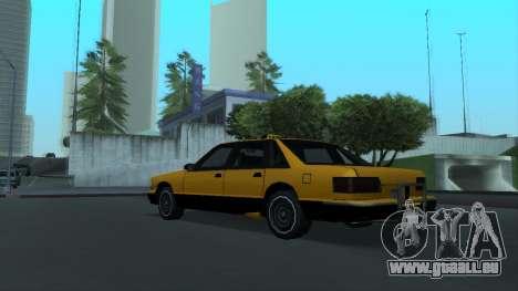 New Taxi pour GTA San Andreas vue de droite