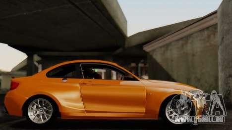 BMW M235i F22 Sport 2014 pour GTA San Andreas vue arrière