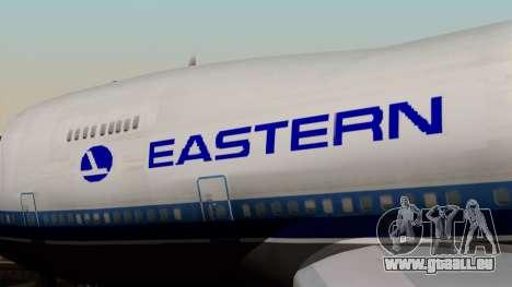 Boeing 747 Eastern pour GTA San Andreas vue arrière