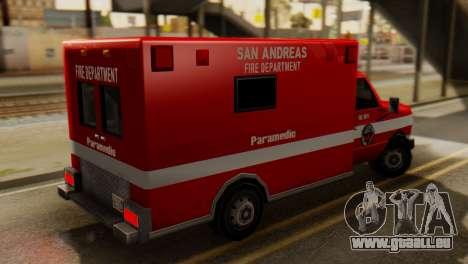 SAFD Ambulance pour GTA San Andreas laissé vue