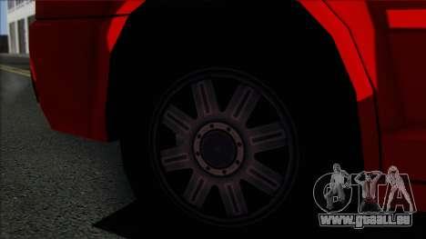 Chrysler 300C SA Style pour GTA San Andreas sur la vue arrière gauche