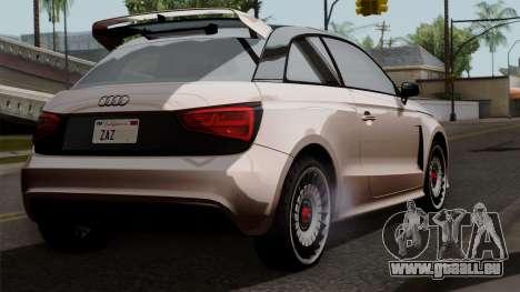 Audi A1 Quattro Clubsport pour GTA San Andreas laissé vue