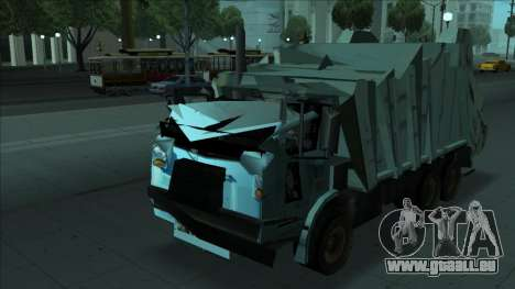TDK Volvo Xpeditor Garbage Crash Version für GTA San Andreas Rückansicht