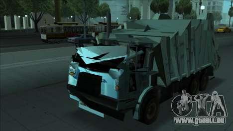 TDK Volvo Xpeditor Garbage Crash Version pour GTA San Andreas vue arrière