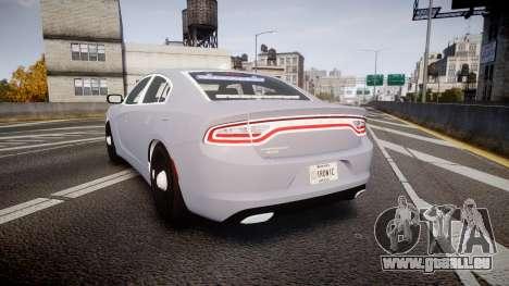Dodge Charger 2015 Unmarked [ELS] pour GTA 4 Vue arrière de la gauche
