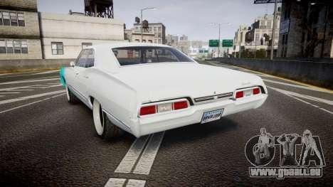 Chevrolet Impala 1967 Custom livery 1 pour GTA 4 Vue arrière de la gauche