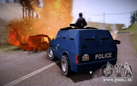 La Voiture Blindée. pour GTA San Andreas sur la vue arrière gauche