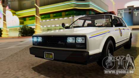 GTA 5 Albany Esperanto Police Roadcruiser pour GTA San Andreas